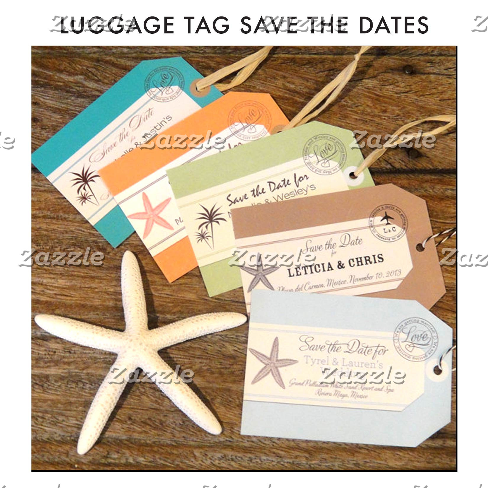 Luggage Tag Save the Dates