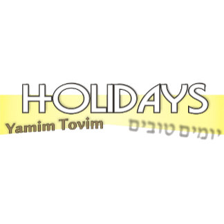 Holidays-Yamim Tovim