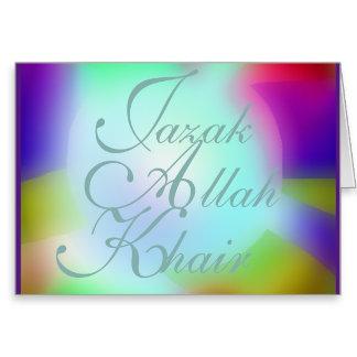 JAZAK-ALLAH-KHAIR CARDS