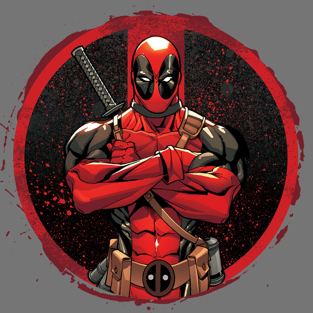 Deadpool in Paint Splatter Logo