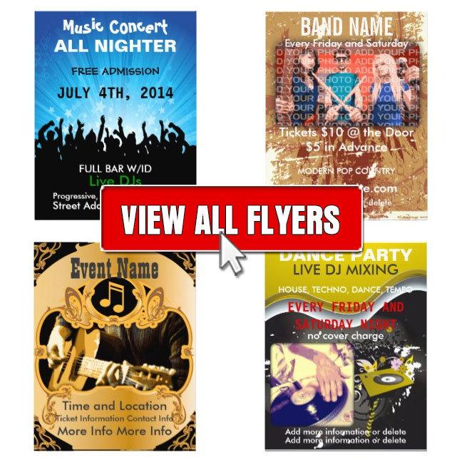 Music, DJ and Band Flyers