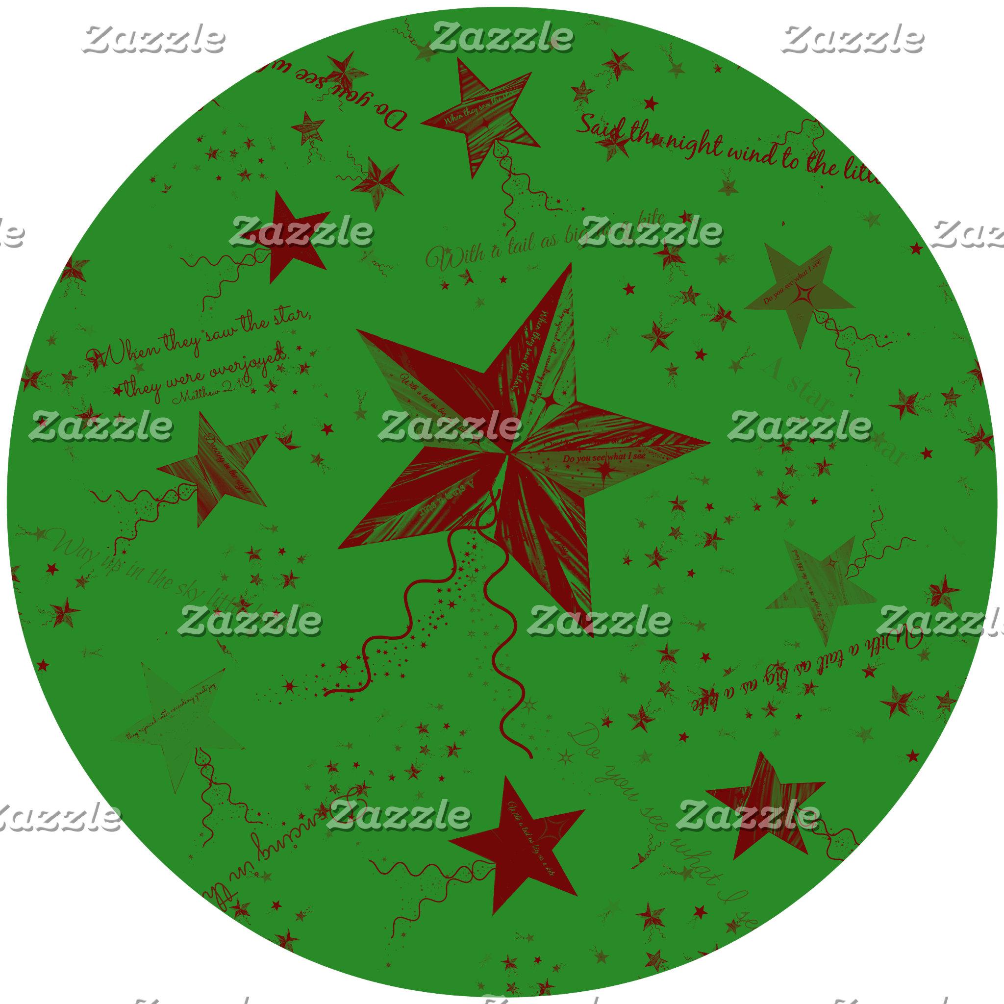 Christmas Star Word Collage