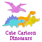 Cute Cartoon Dinosaurs Products