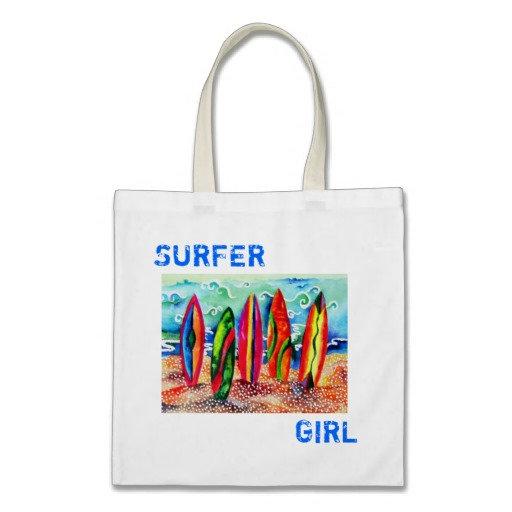 Guitar & Surfboard Tote Bags