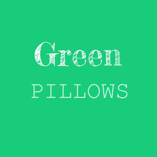 Green & Turquoise Pillows