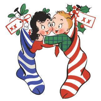 Children in Christmas Stockings