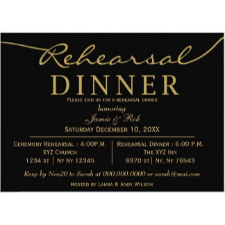 Rehearsal Dinner Invitations