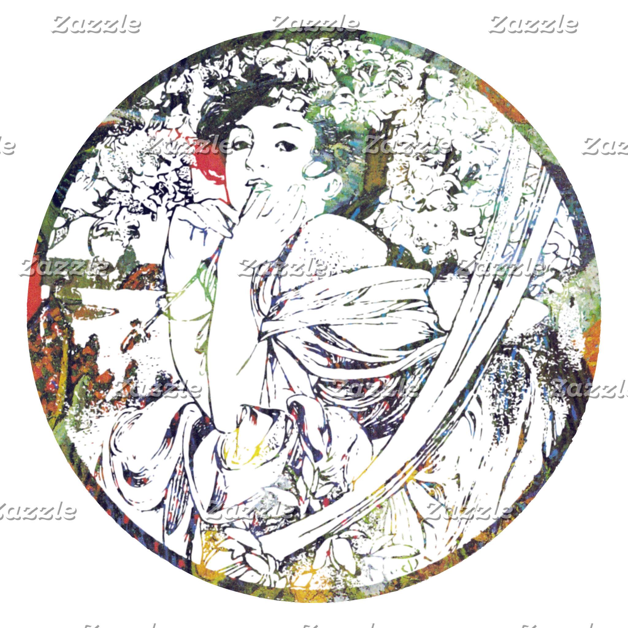 Vintage Mucha Goddess