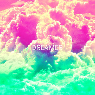 Girly Pastel Turquoise Pink Clouds Sky Dreamer