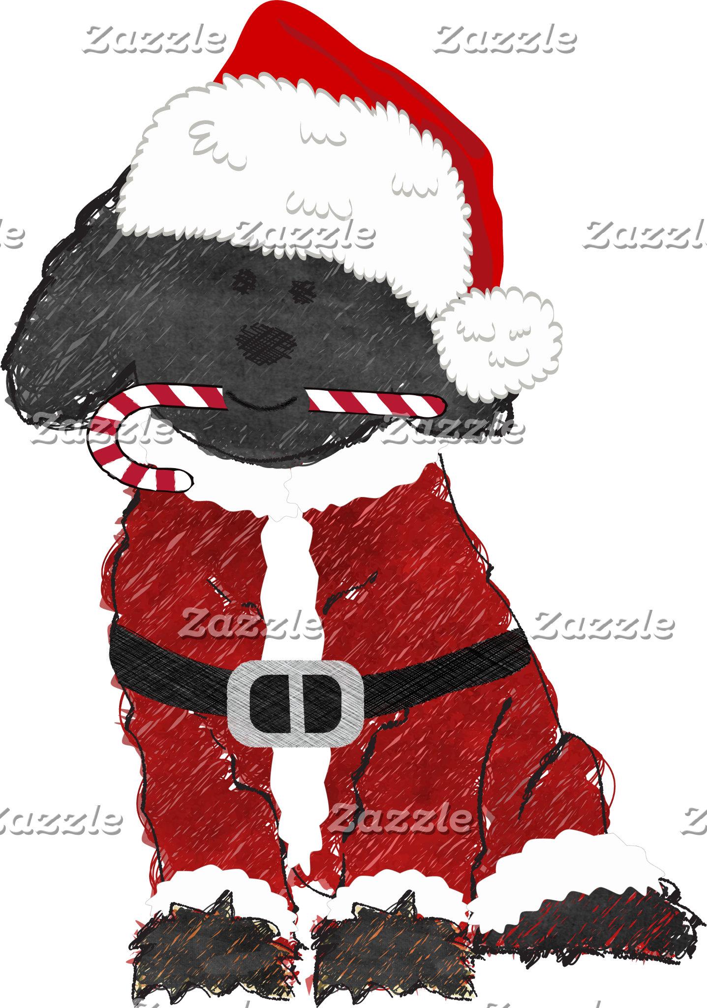 Christmas Santa Labradoodle
