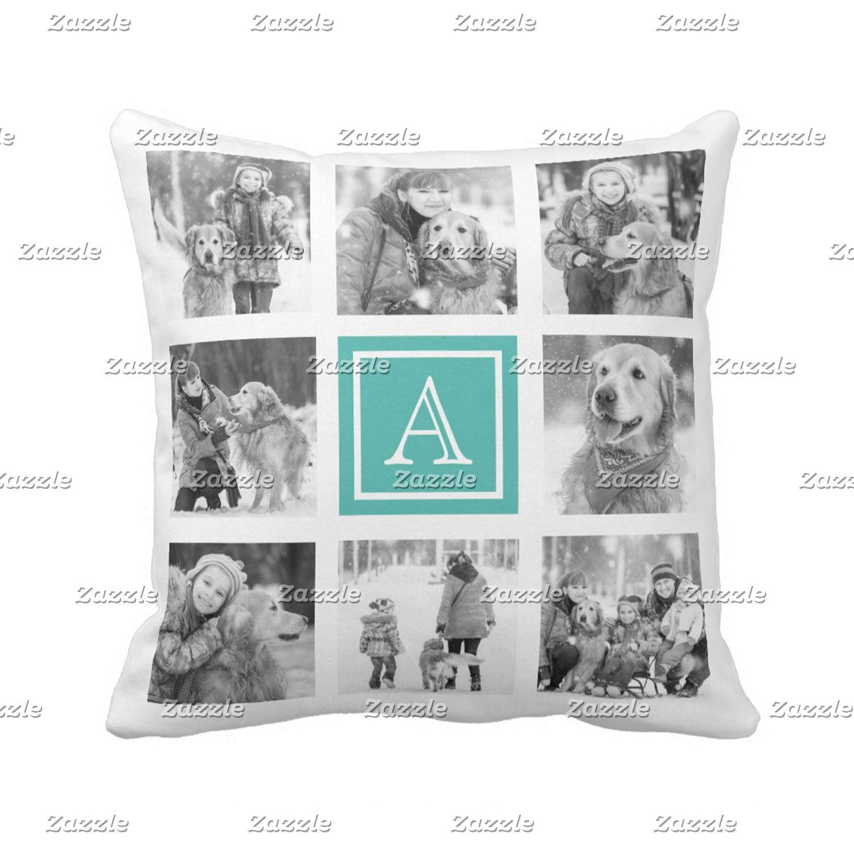 Photo Collage Throw Pillows