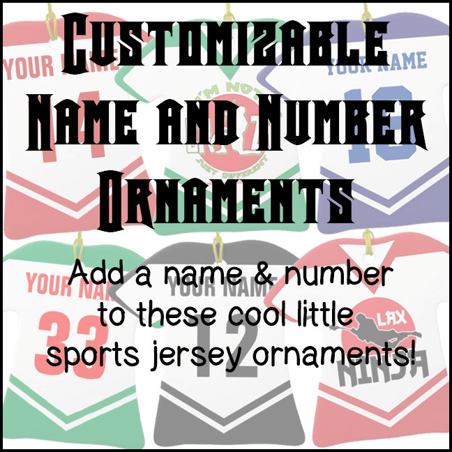Name & Number Ornaments