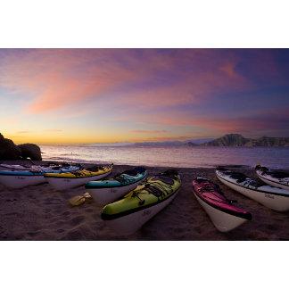 Mexico, Baja, Sea of Cortez. Sea kayaks and