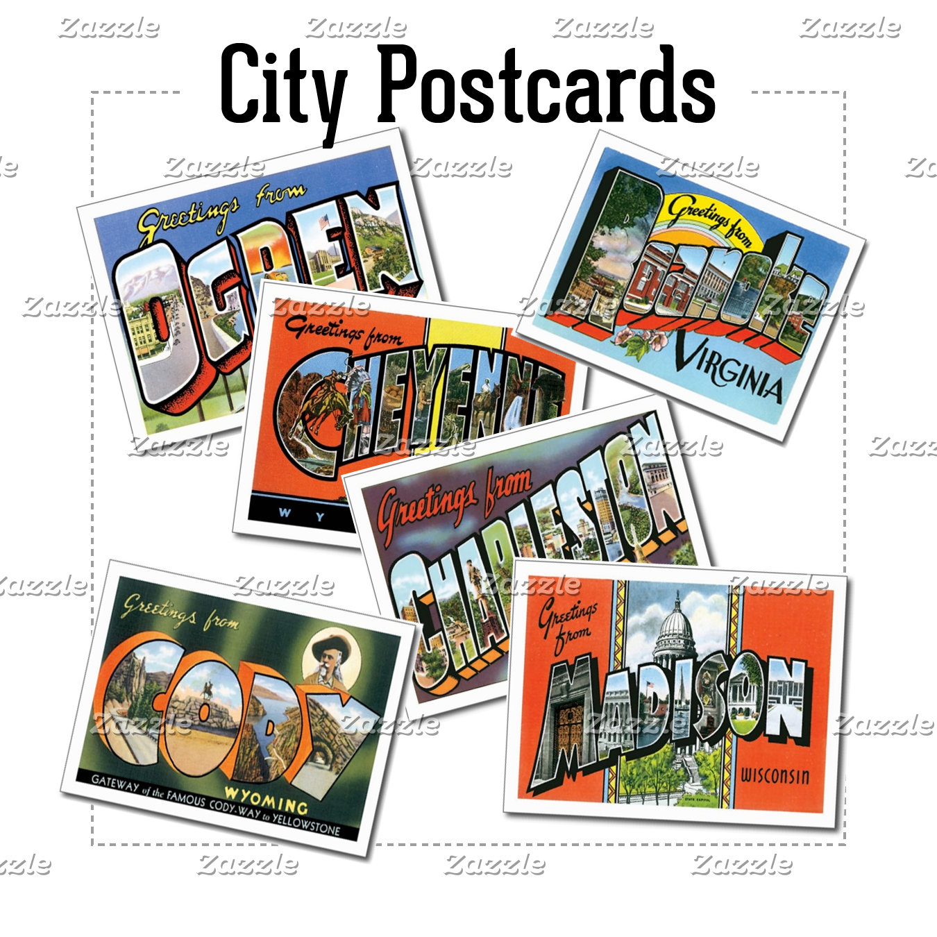 US City Postcards