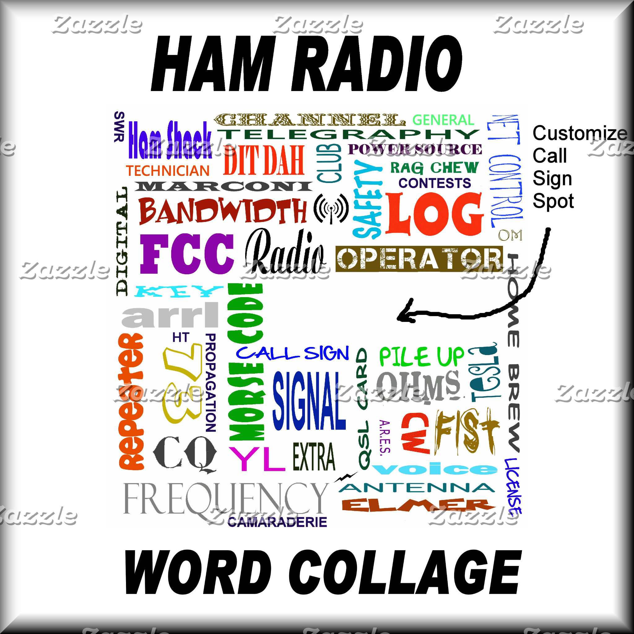 HAM RADIO WORD COLLAGE