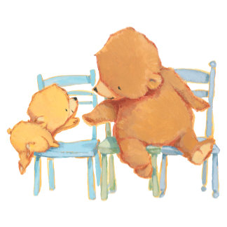 Big Brown Bear Helps Little Yellow Bear