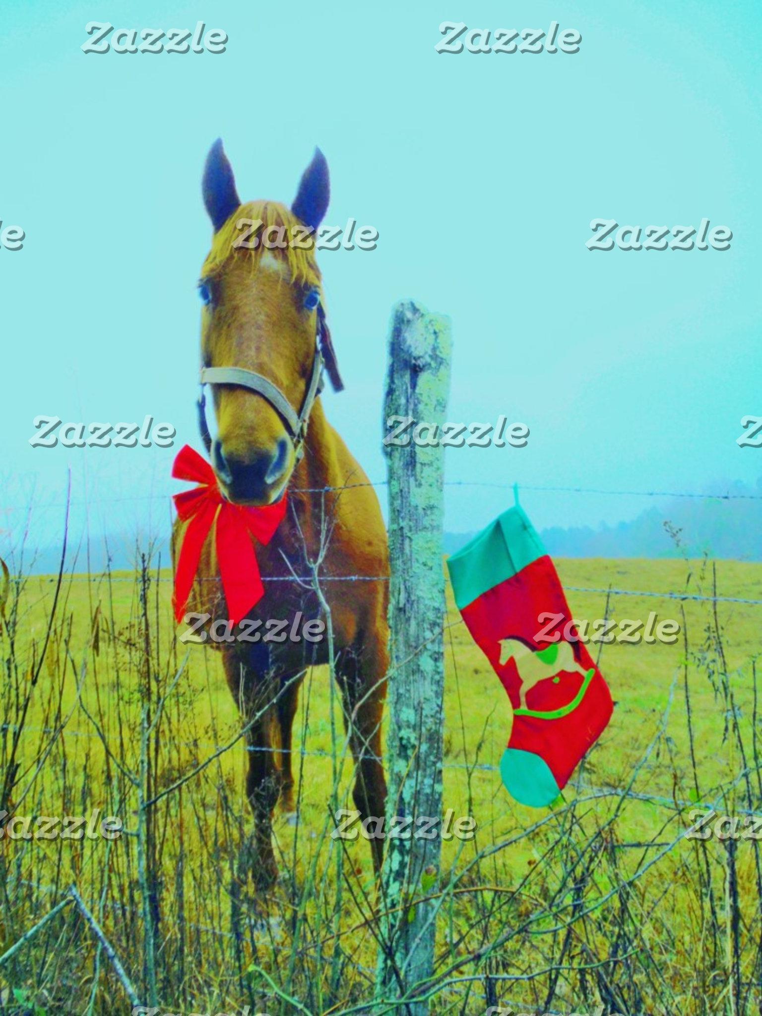 Blankets Christmas horse