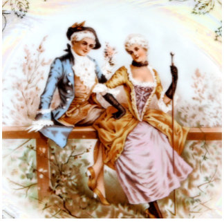 Eighteenth Century Romantic French Couple