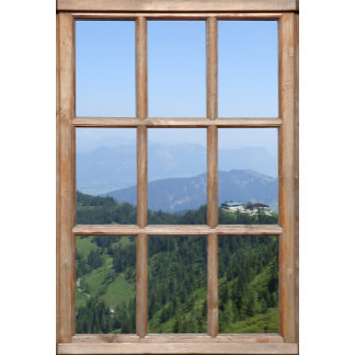 Classic Wood Window Frame
