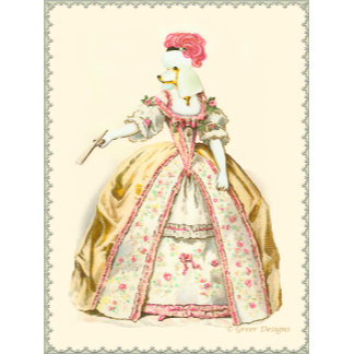 Marie Antoinette French Poodle Fashion Plate