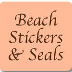 Beach Wedding Favor Stickers and Envelope Seals