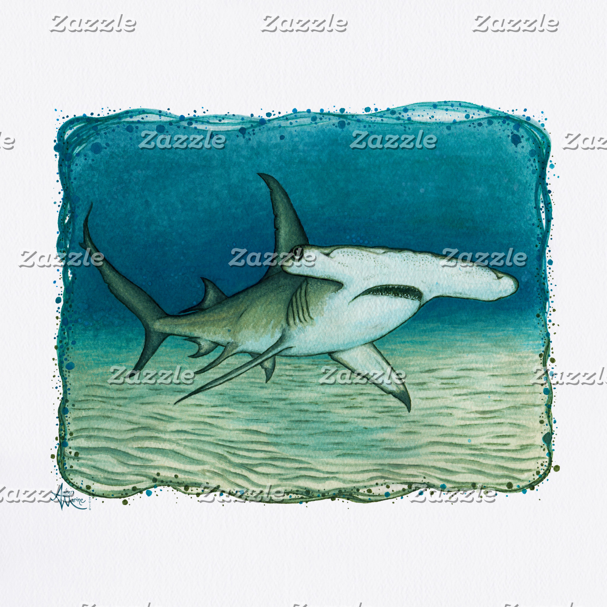 Art: Great Hammerhead Shark