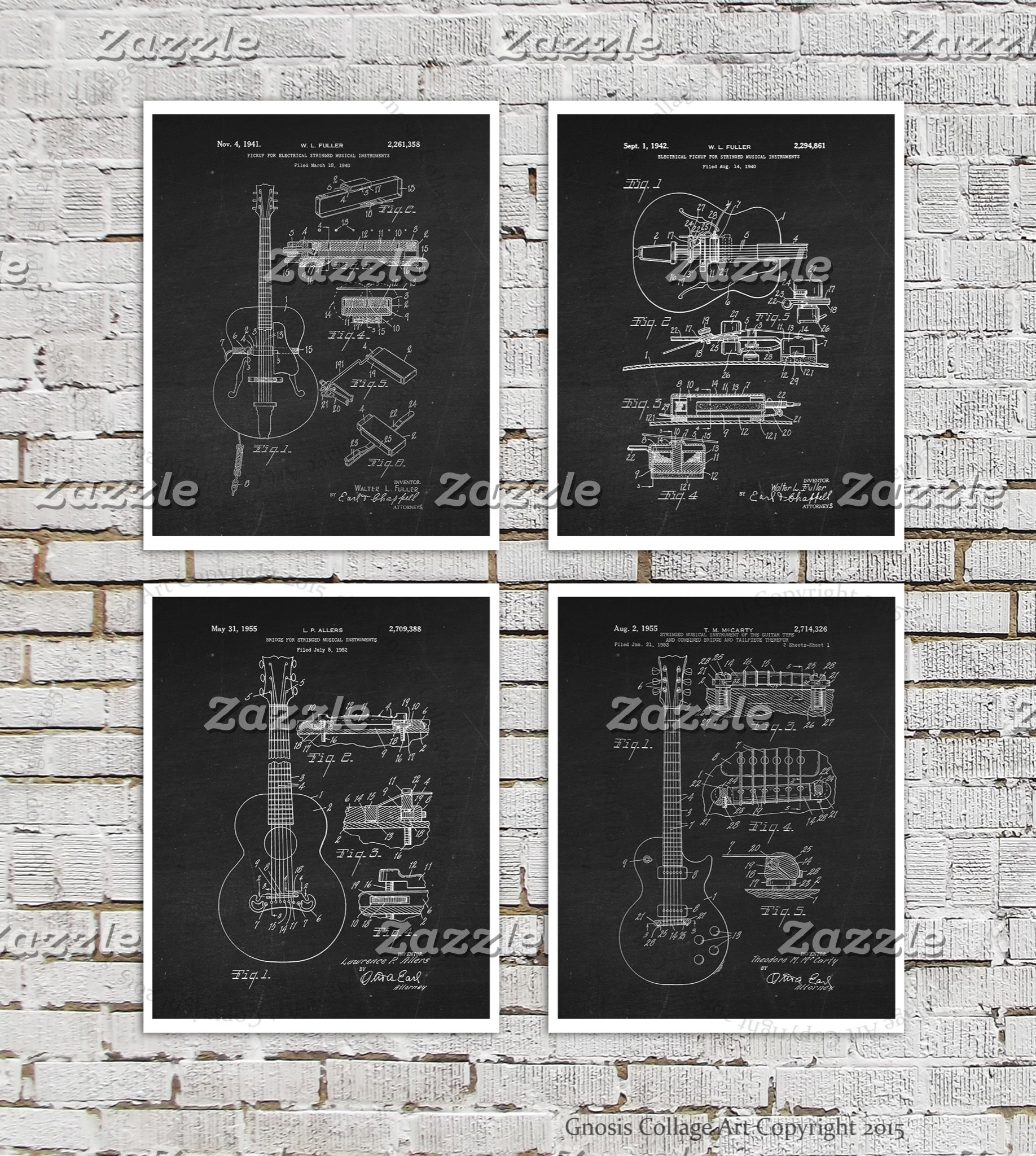 Guitar Patent Wall Art