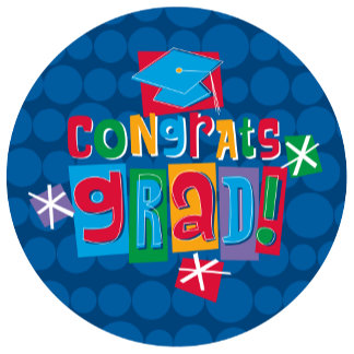 Multicolor Congrats Grad