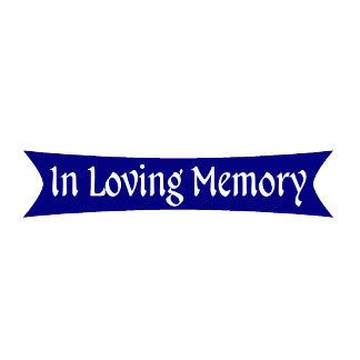 In Loving Memory Blue Ribbon