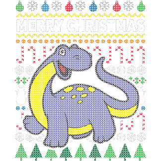 Dino Purple Ugly Sweater