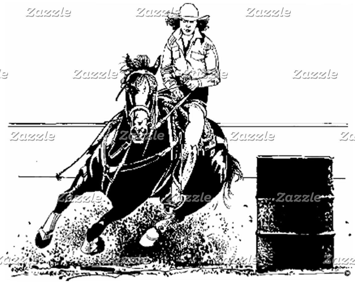 Barrel Racing & Western Horses