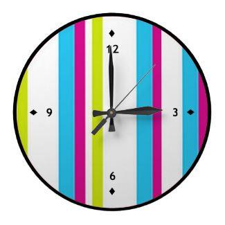 Striped Clock Designs