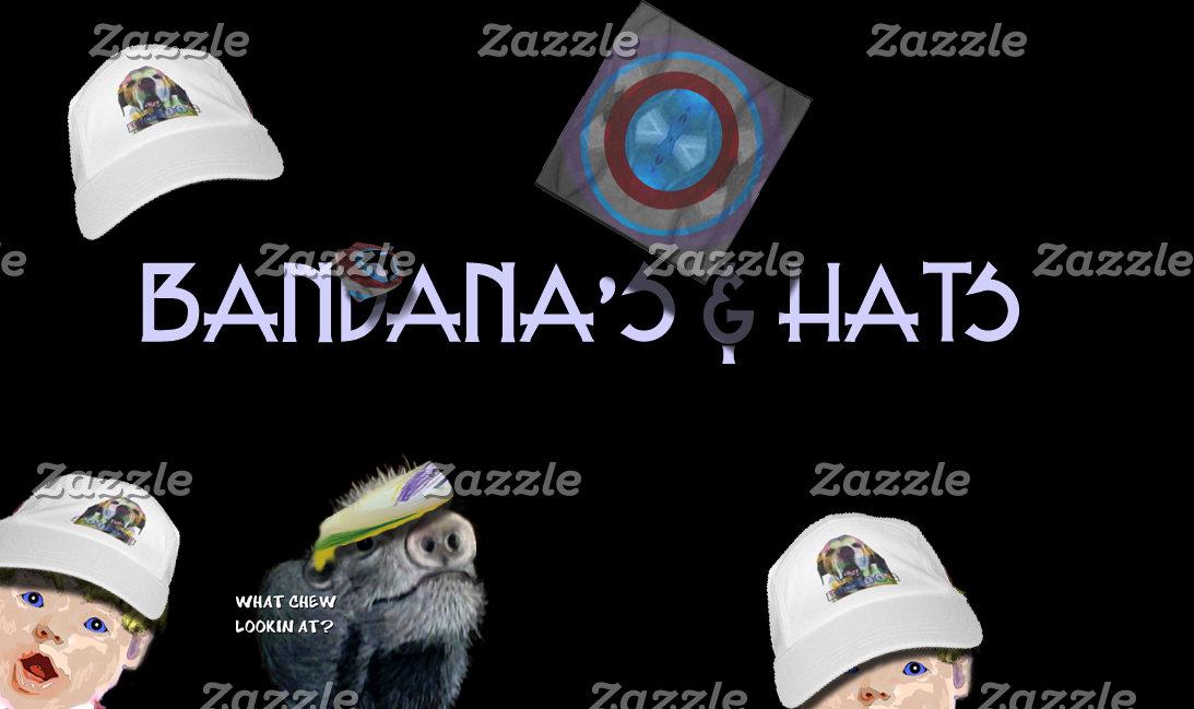 Bandanas-Hats-Skull Caps