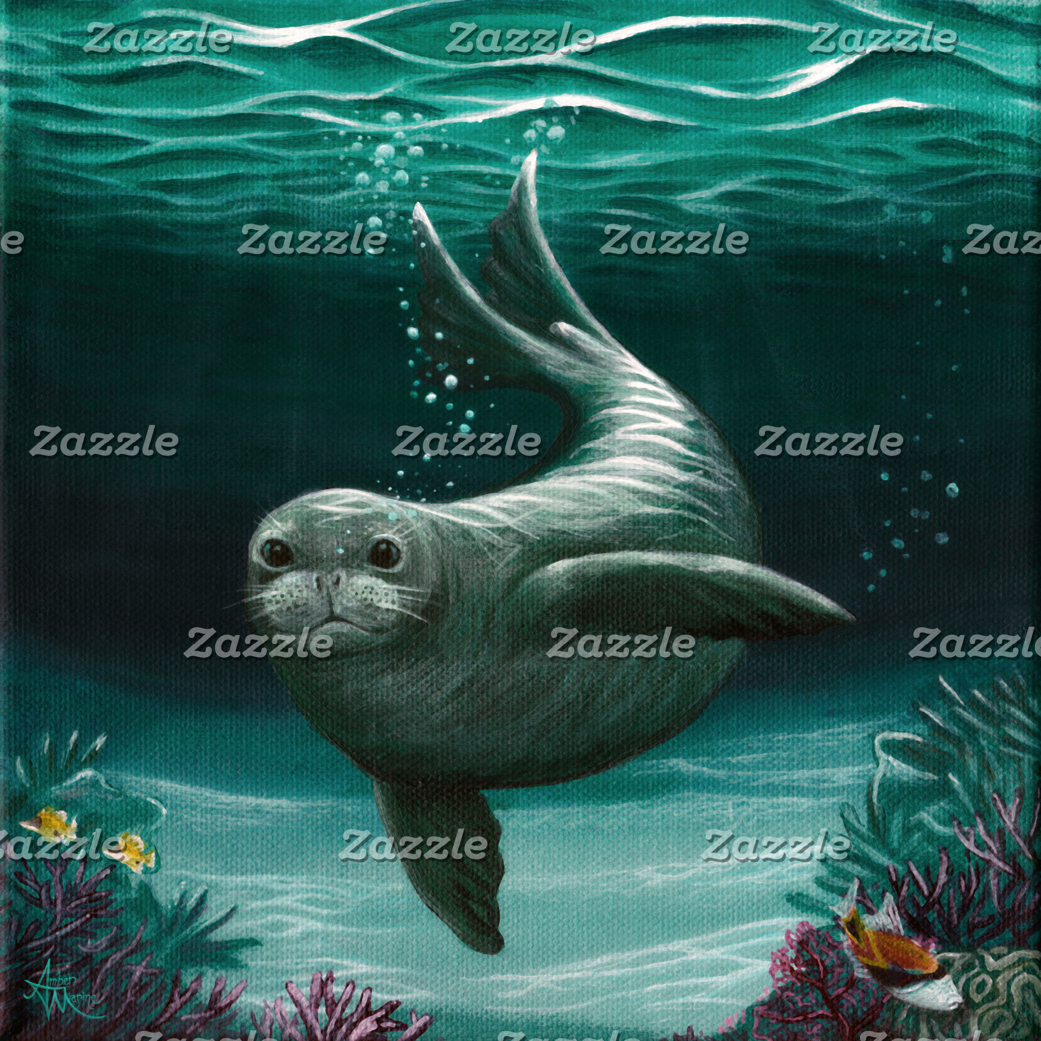 Art: Hawaiian Monk Seal