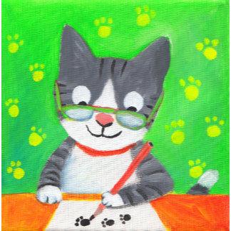 writer cat