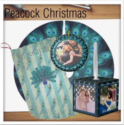 Christmas Peacock Decor