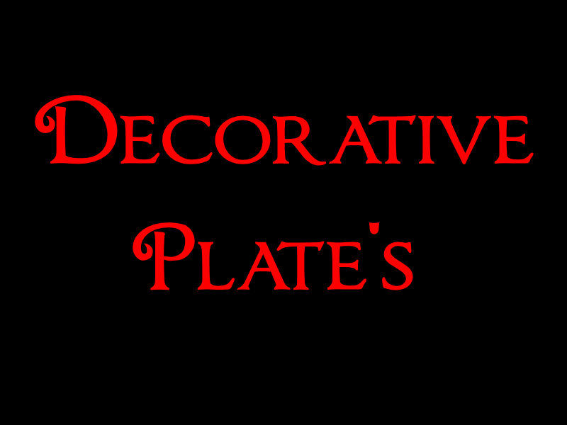 DECORATIVE PLATE'S