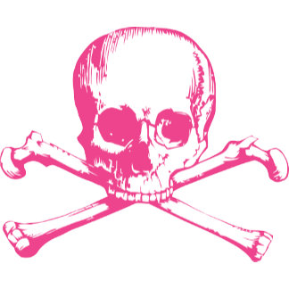 Classic Pink Skull And Crossbones
