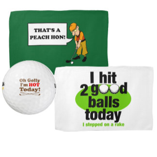 Golf Towels and Golf Balls