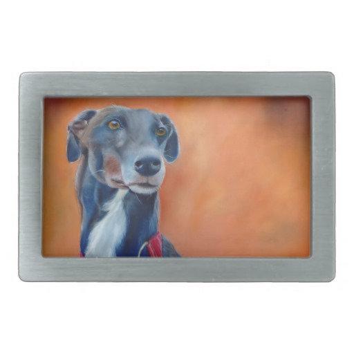 Greyhound belt buckles