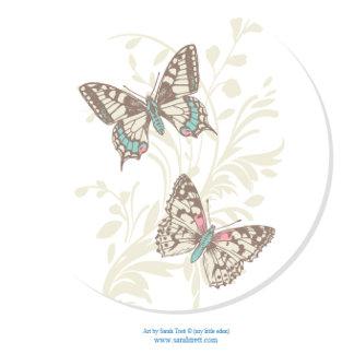 Butterflies Inked Art