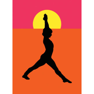 Abstract Yoga Pose T-Shirt Gift Card