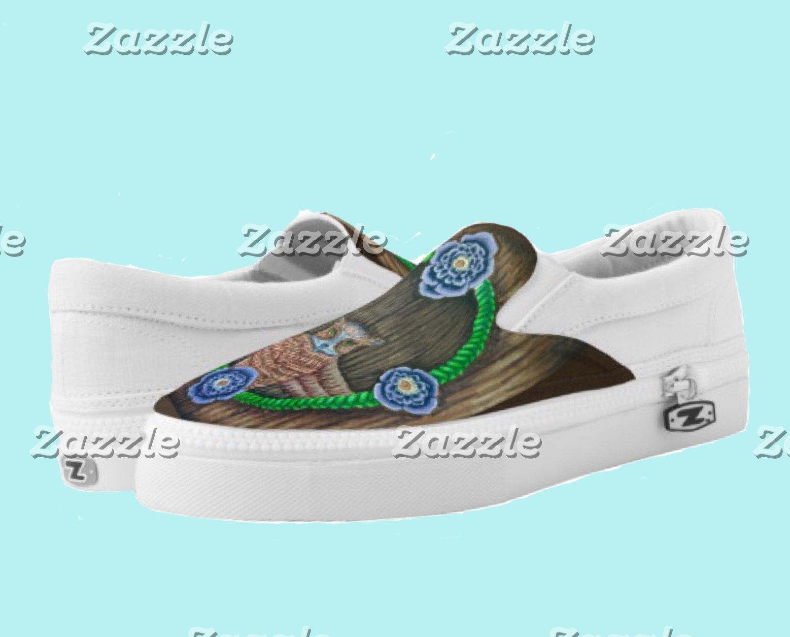 slip-on shoes + Flip-flops