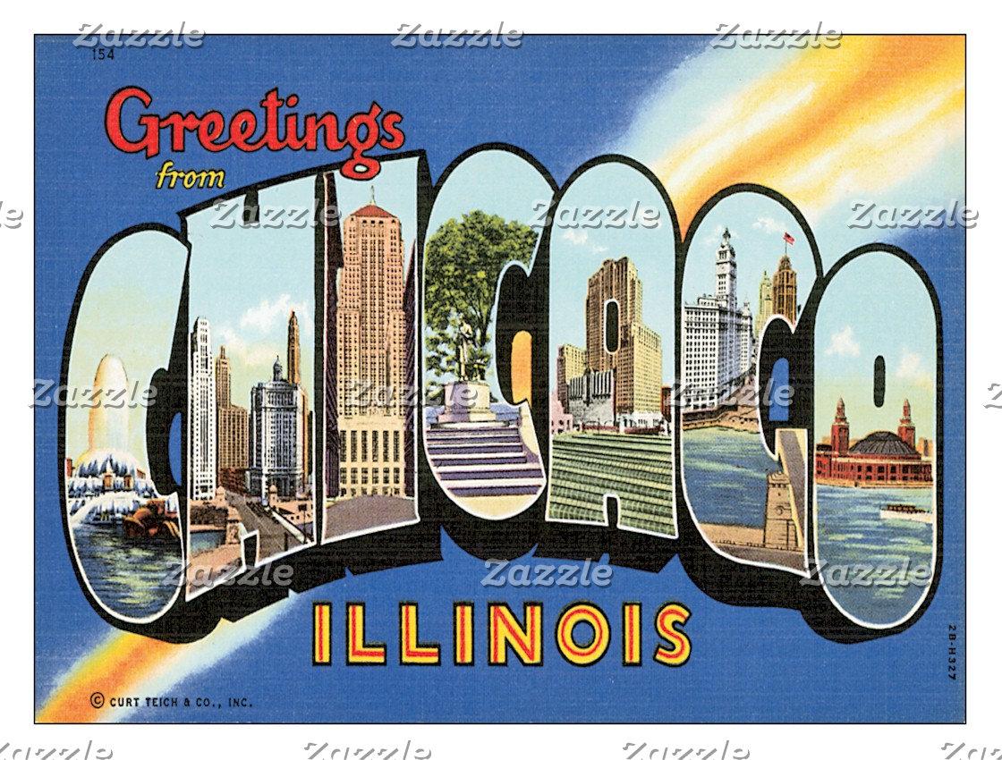 US Cities Postcards