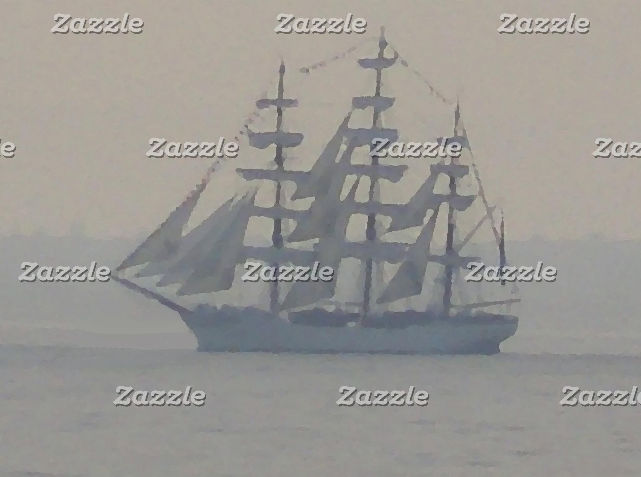 Nautical Ocean Sailing Sailboats
