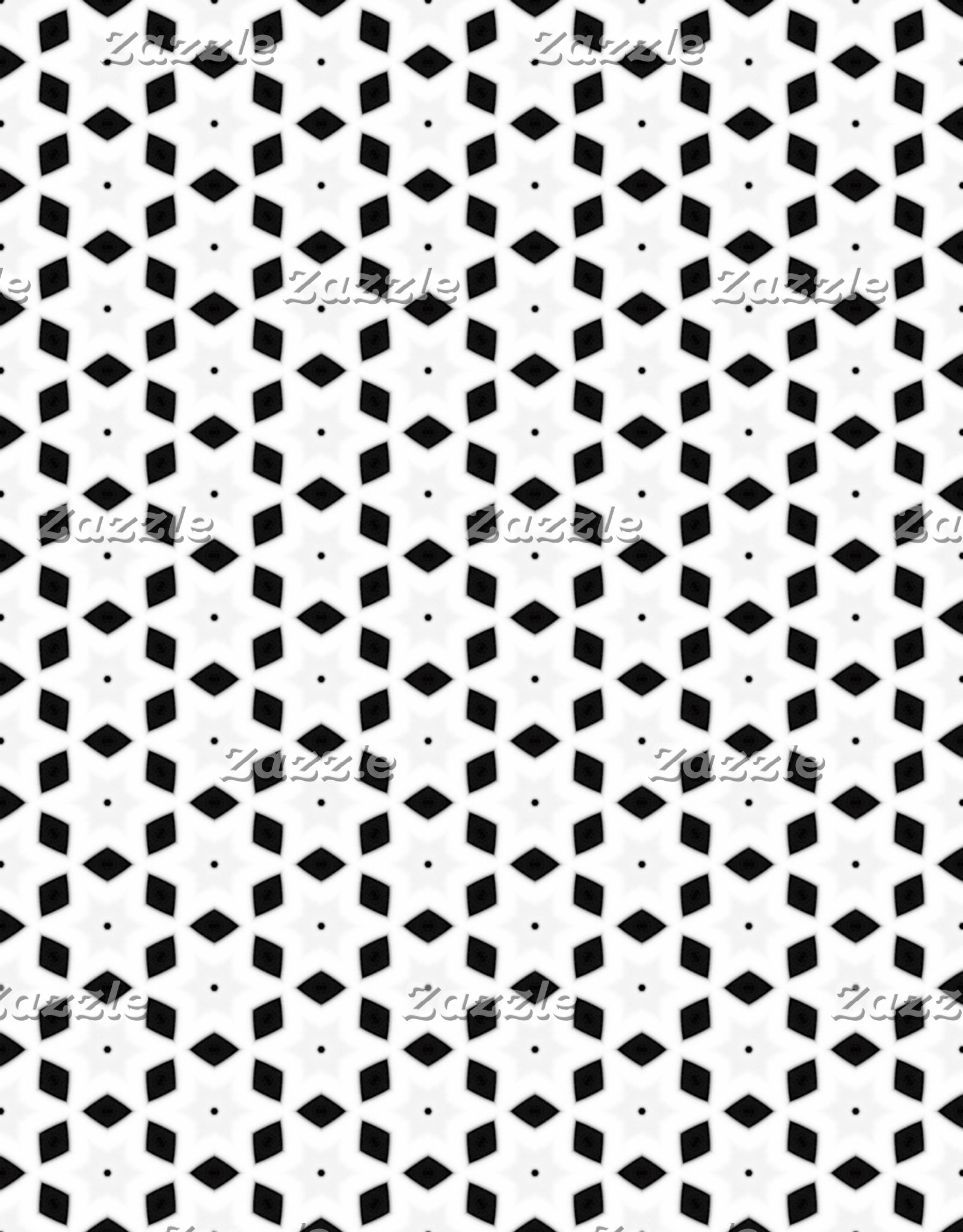 Black and White Patterns | Diamonds and Stars II