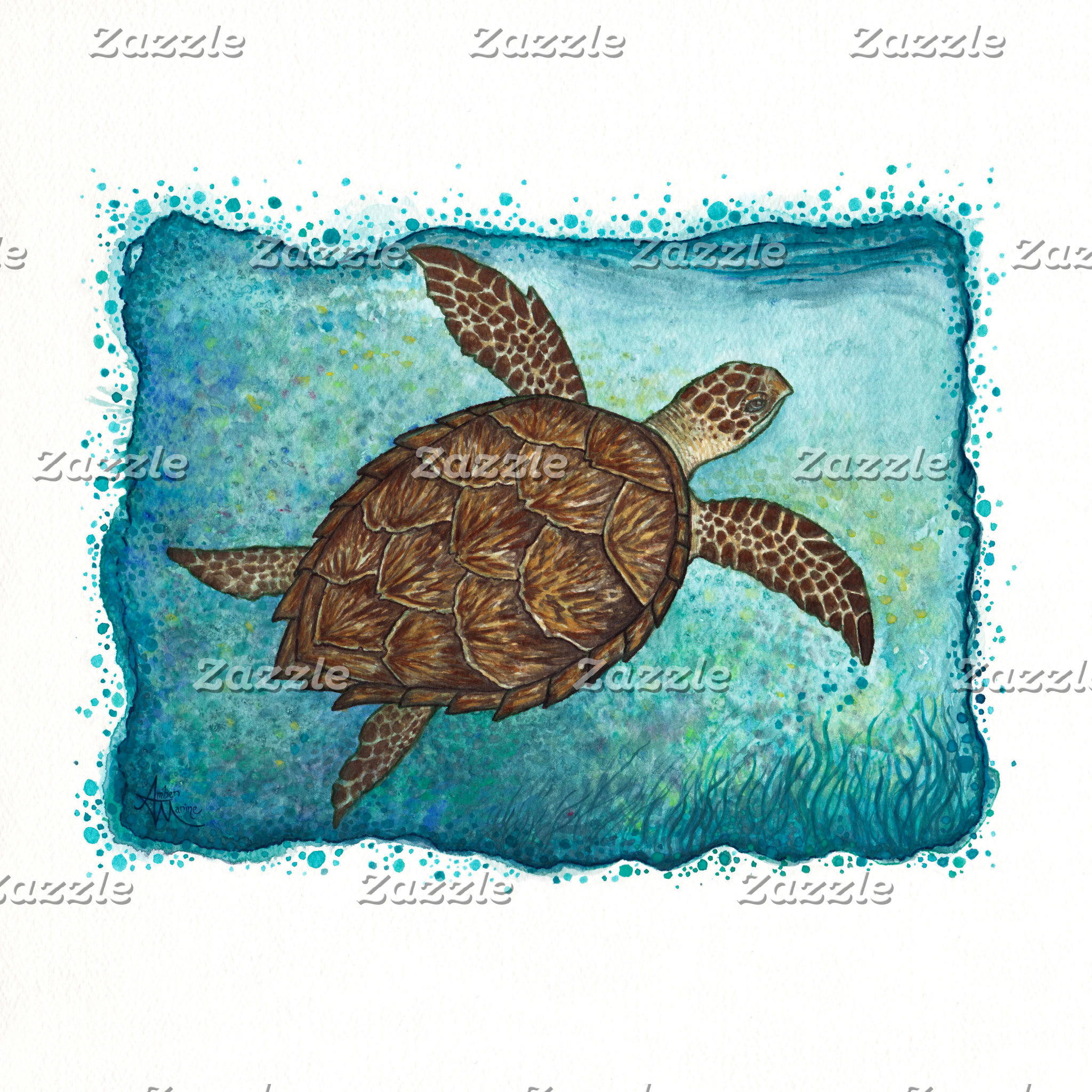 Art: Hawksbill Sea Turtle