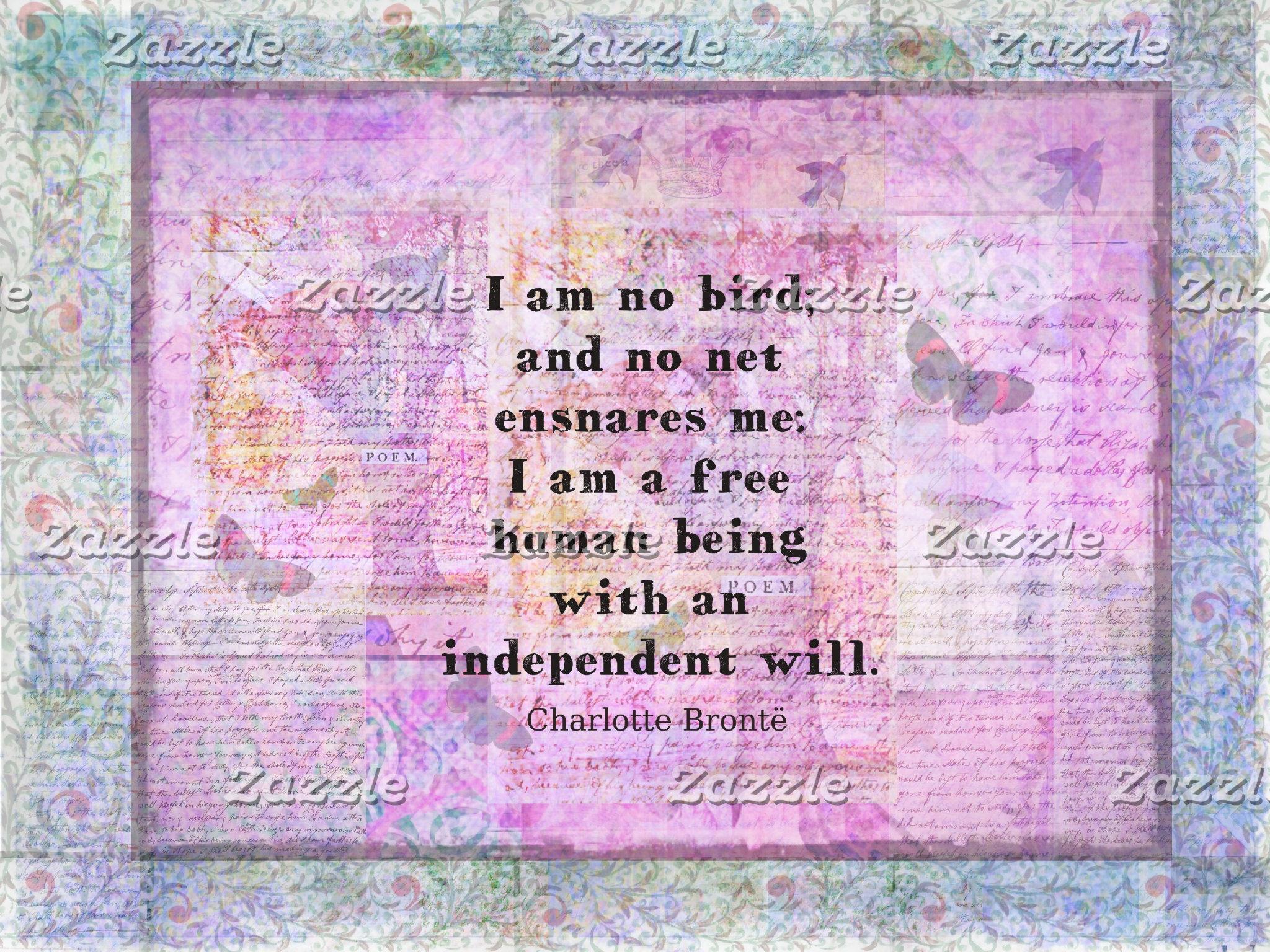 I am no bird; and no net ensnares me: I am a free