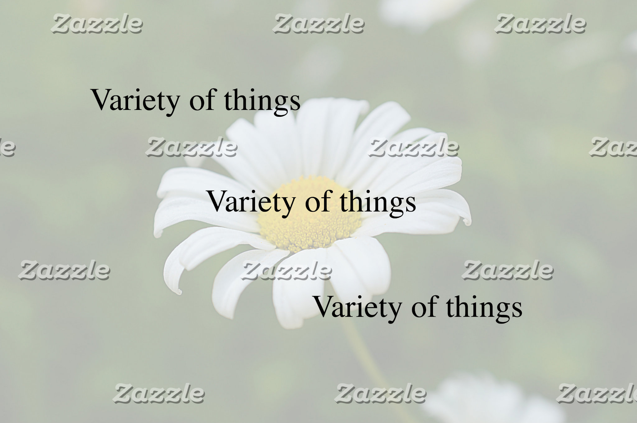 Variety of things