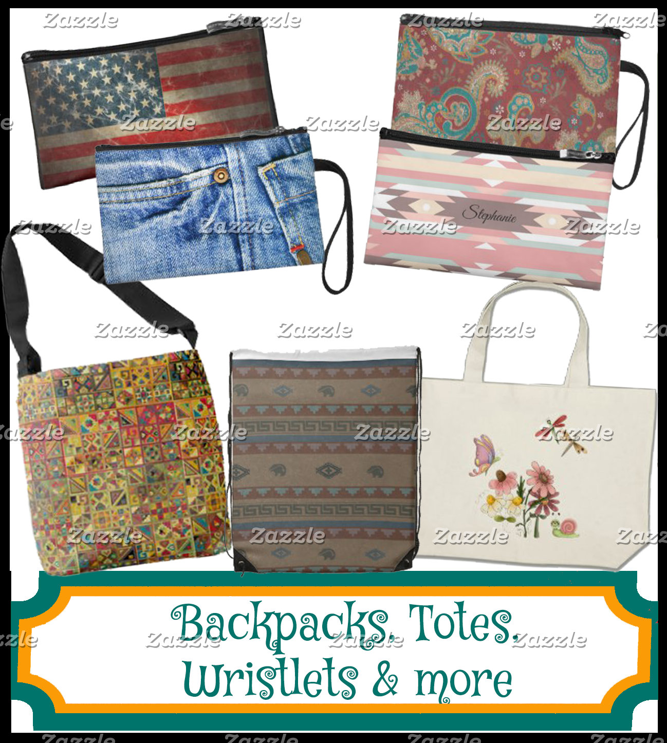 BACKPACKS, TOTES, WRISTLETS & MORE